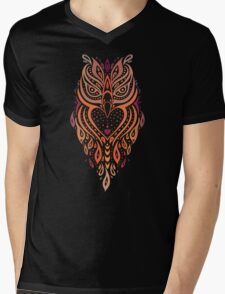 Owl. Mens V-Neck T-Shirt