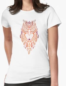 Owl. Womens Fitted T-Shirt