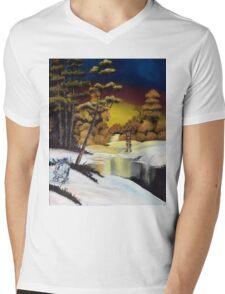 Golden Sunset Mens V-Neck T-Shirt