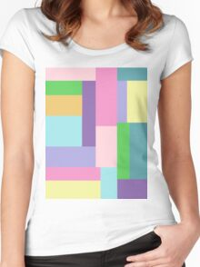 Pastel Sky Women's Fitted Scoop T-Shirt