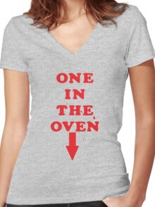 One In The Oven Women's Fitted V-Neck T-Shirt