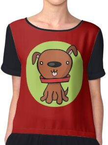 One little dog Chiffon Top