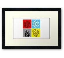 RWBY Symbols Framed Print