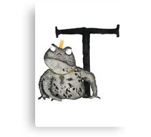 T is for Toad Canvas Print