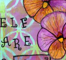 Self Care is Not Selfish--Healing Flowers Sticker
