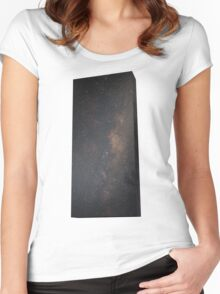 Monolith - It's full of stars Women's Fitted Scoop T-Shirt