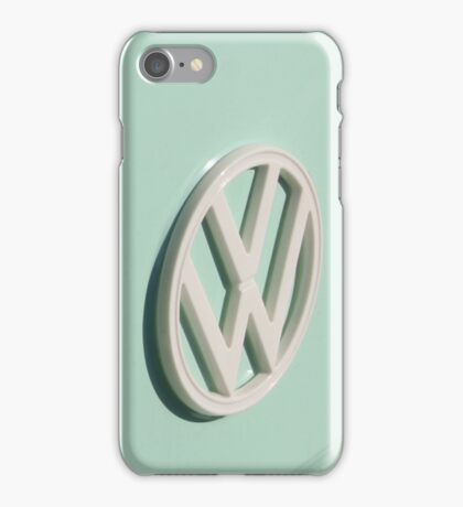 VW Camper Van Badge - Mint Green iPhone Case/Skin