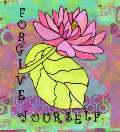 Forgive Yourself--Healing Flowers Sticker