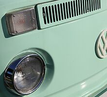 VW Camper Van Badge - Mint Green by jodilei