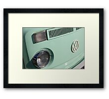 VW Camper Van Badge - Mint Green Framed Print