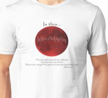 Blood Moon - Is this the Return of the King of Kings (Black font) Unisex T-Shirt