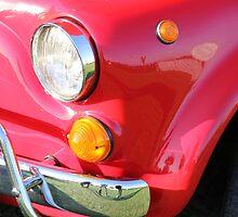 Red Fiat 500 Head Lamp by jodilei