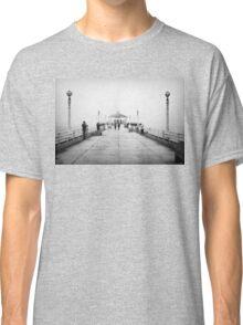 Manhattan Beach Pier In Black And White Classic T-Shirt