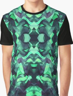Abstract Surreal Chaos theory in Modern poison turquoise green Graphic T-Shirt