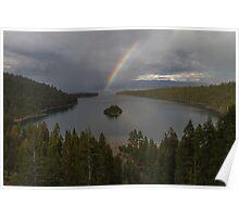 Rainbow at Emerald Bay Poster