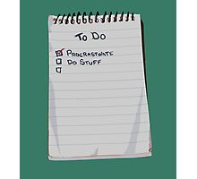 Todo List Photographic Print