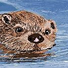 Digital Drawing of sea otter by margaretfraser