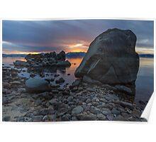 Rocks II - Lake Tahoe Poster