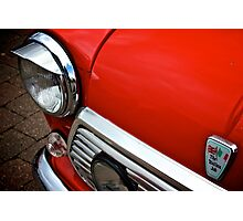 Red Mini Cooper Photographic Print