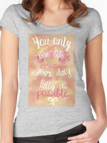 me before you Women's Fitted Scoop T-Shirt