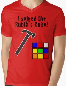 I Solved the Rubik's Cube Mens V-Neck T-Shirt