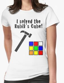 I Solved the Rubik's Cube Womens Fitted T-Shirt