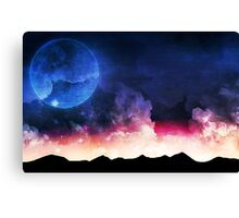 Black sunset  Canvas Print