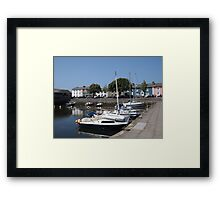 Boats At Aberaeron, West Wales Framed Print
