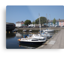 Boats At Aberaeron, West Wales Metal Print