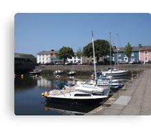 Boats At Aberaeron, West Wales Canvas Print