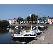 Boats At Aberaeron, West Wales Photographic Print