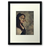 Gothic Girl Wearing Mask  Framed Print