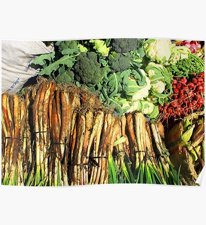 Produce at the Market Poster