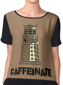 Iskybibblle Products /Dalek Coffee Chiffon Top