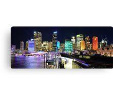 City Skyline 1 Vivid 2016 Canvas Print