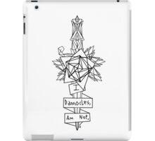 Damocles (Black) iPad Case/Skin