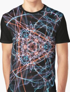 Blue Red on Black Graphic T-Shirt