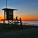 sunrise at the beach by LarryH