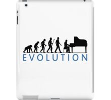 Funny Evolution Of Man and Piano iPad Case/Skin