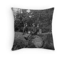 California Loggers 1910 Throw Pillow