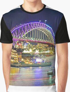 Harbour Bridge 2 Vivid 2016 Graphic T-Shirt