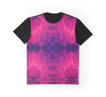 Abstract Polygon Multi Color Cubizm Painting in deep pink/purple  Graphic T-Shirt