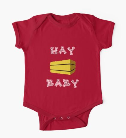 Hay Baby (Dark) One Piece - Short Sleeve