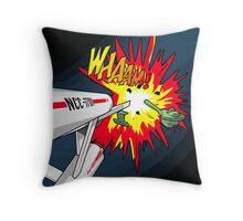 Lichtenstein Star Trek - Whaam! Throw Pillow