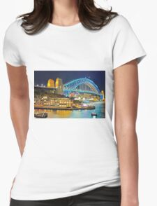 Harbour Bridge 3 Vivid 2016 Womens Fitted T-Shirt