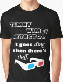 Doctor Who - Timey Wimey Detector 3D Glasses Graphic T-Shirt