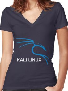 Kali Linux Hacking Tees Women's Fitted V-Neck T-Shirt