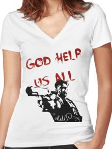 God help us all Women's Fitted V-Neck T-Shirt