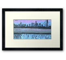 Spookily Beautiful reflection Framed Print