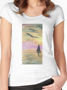 Sail Into The Sunset Women's Fitted Scoop T-Shirt